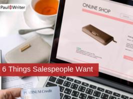 6 Things Salespeople Want